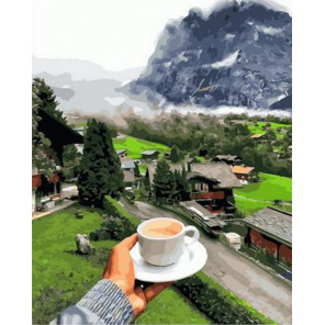 Согревающий утренний кофе Раскраска картина по номерам на холсте PK68064