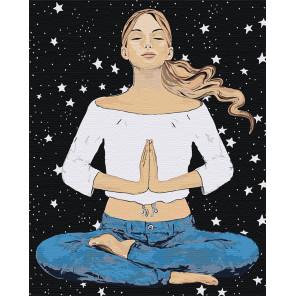 Медитация Раскраска картина по номерам на холсте AAAA-DV05-80x100