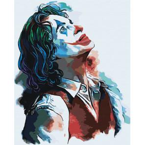 Пример в интерьере Джокер Раскраска картина по номерам на холсте с неоновыми красками AAAA-RS010-100x125