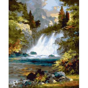 Шум водопада Раскраска картина по номерам на холсте ZX 23349