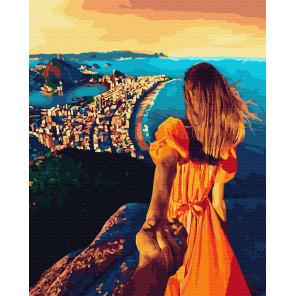 Следуй за мной. Городок на побережье Раскраска картина по номерам на холсте ZX 23351