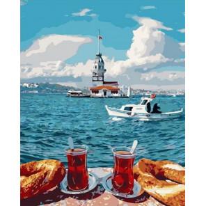Чаепитие у моря Раскраска картина по номерам на холсте PK72010