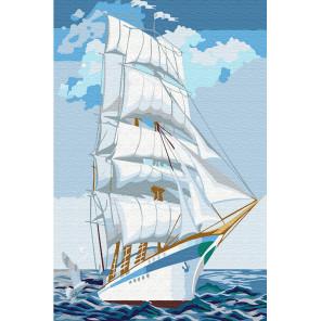 На поднятых парусах Раскраска по номерам на холсте KH0892