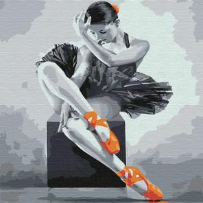 Юная балерина Раскраска картина по номерам на холсте KHM0032