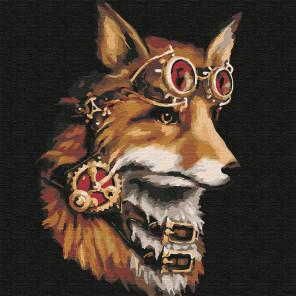 Фантастический лис Раскраска картина по номерам на холсте KHM0034