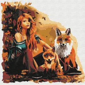 Лесные друзья Раскраска картина по номерам на холсте KHM0052
