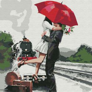 Прощание Раскраска картина по номерам на холсте KHM0058