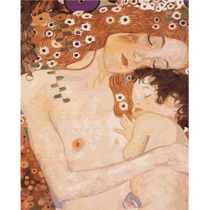 Мать и дитя. Климт Раскраска картина по номерам на холсте KH0620