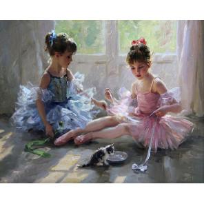 Две балерины Раскраска картина по номерам на холсте KH0623