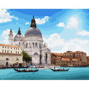Санта-Мария-Делла-Салюте Раскраска картина по номерам на холсте KH0639
