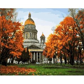 Исаакиевский собор. Санкт-Петербург Раскраска картина по номерам на холсте GX25986