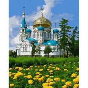 Успенский кафедральный собор Раскраска картина по номерам на холсте MCA894