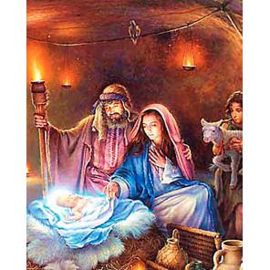 Рождение Иисуса Христа Раскраска картина по номерам на холсте MG2156