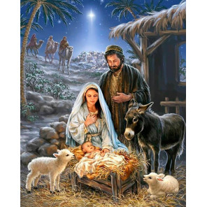 Рождество Христово Раскраска картина по номерам на холсте MG2152