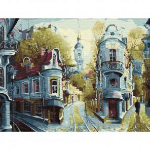 Улочки старой Москвы Картина по номерам с цветной схемой на холсте KK0611