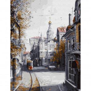 Ушедшая Москва Картина по номерам с цветной схемой на холсте KK0621