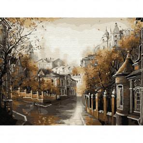 Московская осень Картина по номерам с цветной схемой на холсте KK0628