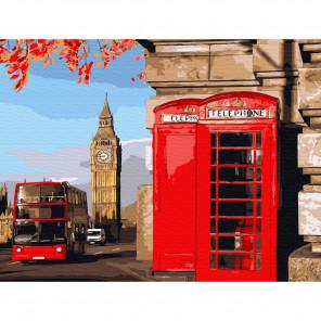 Улицы Лондона Картина по номерам с цветной схемой на холсте KK0640
