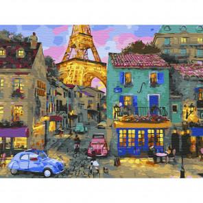 Уютный вечер Картина по номерам с цветной схемой на холсте KK0642