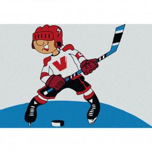 Хоккеист Раскраска по номерам на холсте KHM0002