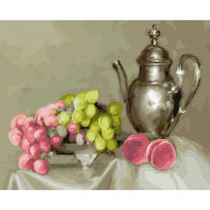 Натюрморт с виноградом. Бузин Картина по номерам на дереве KD0713