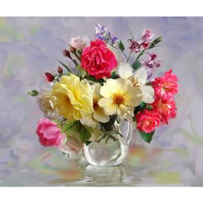 Розы в кувшинчике Раскраска по номерам на холсте KH0643