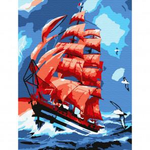 Алые паруса Раскраска по номерам на холсте Molly KH0754