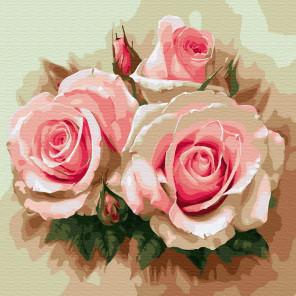 Розовое трио Раскраска по номерам на холсте Molly KH0695