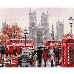 Лондонский транспорт Раскраска по номерам на холсте Molly KH0813