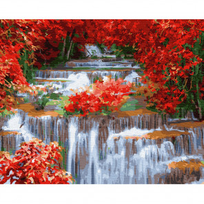 Водопад Раскраска по номерам на холсте Molly KH0818