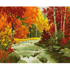Золотая осень Раскраска по номерам на холсте Molly KH0824