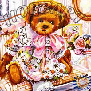 Мишки Тедди. Нарядная Раскраска по номерам на холсте Hobbart Lite HB4040042-Lite
