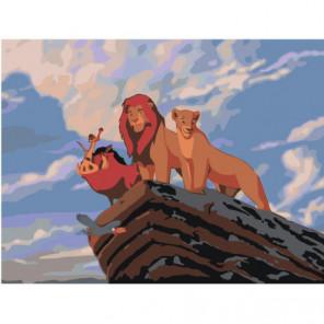 Король Лев на скале 60х80 Раскраска картина по номерам на холсте
