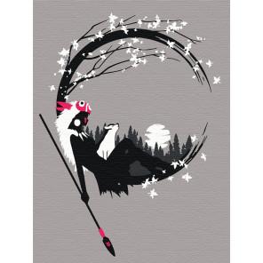 Принцесса. Аниме Раскраска картина по номерам на холсте с неоновыми красками AAAA-RS045-75x100