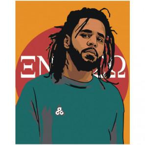 J. Cole 80х100 Раскраска картина по номерам на холсте