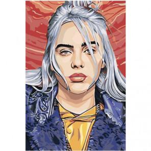 Портрет Billie Eilish 80х120 Раскраска картина по номерам на холсте