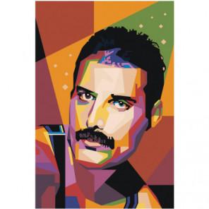 Радужный Фредди Меркьюри 40х60 Раскраска картина по номерам на холсте