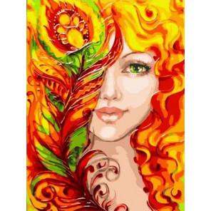 Огненное очарование Раскраска картина по номерам на холсте PKC76048