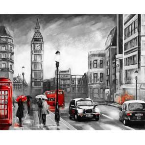 Лондон под дождем Раскраска картина по номерам на холсте MG2161