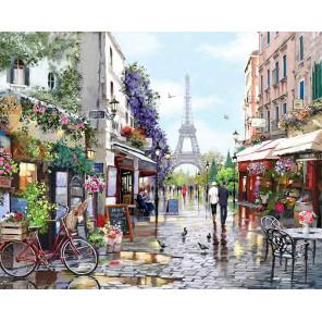 Париж весной Раскраска картина по номерам на холсте MG2206