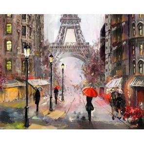 Париж под дождем Раскраска картина по номерам на холсте MG2160