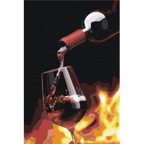 Бокал игристого вина Раскраска картина по номерам на холсте AAAA-RS038