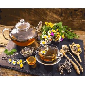 Аромат травяного чая Раскраска картина по номерам на холсте GX35151
