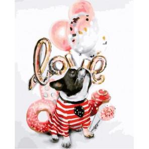 Любимый пес Раскраска картина по номерам на холсте GX35076