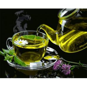 Ромашковый чай Раскраска картина по номерам на холсте GX35221