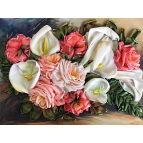 Каллы с розами Набор для вышивки лентами Каролинка КЛ(Н)-3035