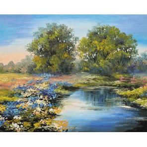 Летняя река Раскраска картина по номерам на холсте MG2415