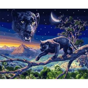 Сложность и количество цветов Ночная охота Раскраска картина по номерам на холсте МСА634