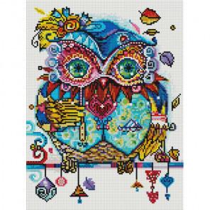 Венецианская сова Алмазная вышивка мозаика на подрамнике 514-ST-S