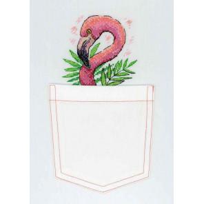 Внешний вид упаковки Розовый фламинго Набор для вышивания МП Студия В-248